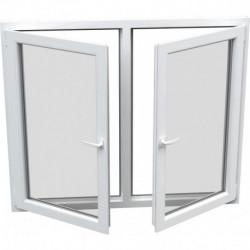 Dvojkrídlové plastové okno, otváravé + otváravo-sklopné, Šírka: 1710mm, Výška: 1570mm