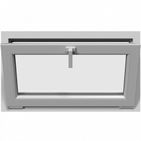 Jednokrídlové plastové okno, sklopné, biele