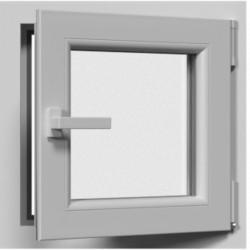 Jednokrídlové plastové okno, otváravo-sklopné, biele