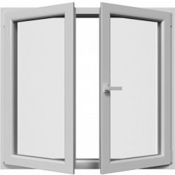 Dvojkrídlové plastové okno, otváravé + otváravo-sklopné