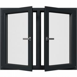 Dvojkrídlové plastové okno, otváravé + otváravo-sklopné, Šírka: 1360mm, Výška: 1100mm