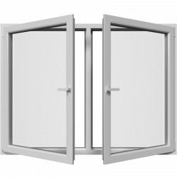 Dvojkrídlové plastové okno, otváravo-sklopné + otváravé, Šírka: 1950mm, Výška: 1450mm