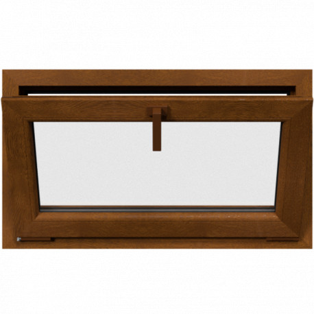 Jednokrídlové plastové okno, sklopné, zlatý dub