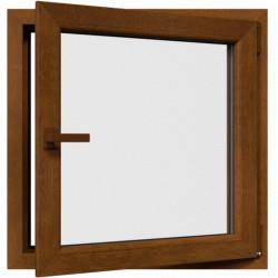 Jednokrídlové plastové okno, otváravo-sklopné, PRAVÉ, zlatý dub