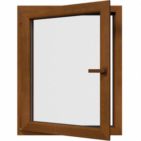 Jednokrídlové plastové okno, otváravo-sklopné, ĽAVÉ, zlatý dub