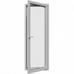 Jednokrídlové plastové balkónové dvere, otváravo-sklopné
