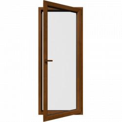 Jedokrídlové balkónové dvere, otváravo-sklopné, PRAVÉ, zlatý dub
