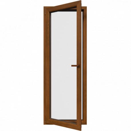Jedokrídlové balkónové dvere, otváravo-sklopné, ĽAVÉ, zlatý dub