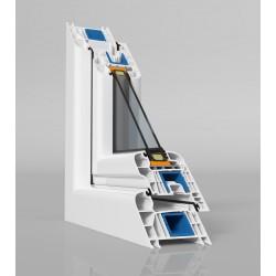 jednokrílové plastové okno SALAMANDER SL76: fixné  šírka: 1500 výška: 1500