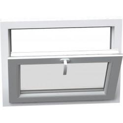 jednokrílové plastové okno SALAMANDER SL76: sklopné  šírka: 450 výška: 400