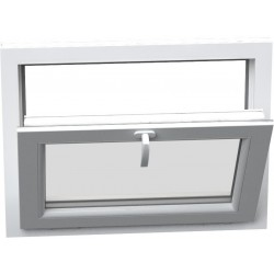 jednokrílové plastové okno SALAMANDER SL76: sklopné  šírka: 600 výška: 400