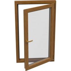 jednokrílové plastové okno SALAMANDER SL76: otváravo-sklopné PRAVÉ  šírka: 600 výška: 1400