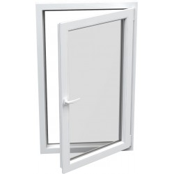 jednokrílové plastové okno SALAMANDER SL76: otváravo-sklopné PRAVÉ  šírka: 600 výška: 600
