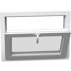 Jednokrídlové plastové okno - sklopné, šírka: 450mm, výška: 400mm