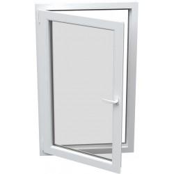 jednokrílové plastové okno SALAMANDER SL76: otváravo-sklopné ĽAVÉ  šírka: 600 výška: 600