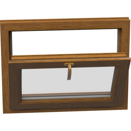 jednokrídlové plastové okno Aluplast Effect: sklopné  šírka: 450 výška: 400