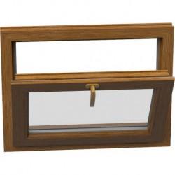 Jednokrídlové plastové okno - sklopné, šírka: 900mm, výška: 500mm