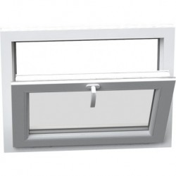 Jednokrídlové plastové okno - sklopné, šírka: 1400mm, výška: 500mm