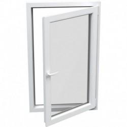 jednokrídlové plastové okno Aluplast Effect: otváravo-sklopné PRAVÉ šírka: 600 výška: 600