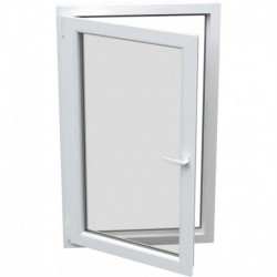 jednokrídlové plastové okno Aluplast Effect: otváravo-sklopné ĽAVÉ šírka: 600 výška: 600