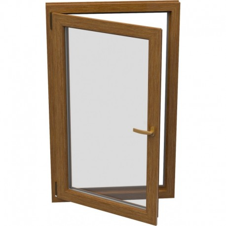 Jednokrídlové plastové okno - otváravo-sklopné, ĽAVÉ,šírka: 600mm, výška: 600mm