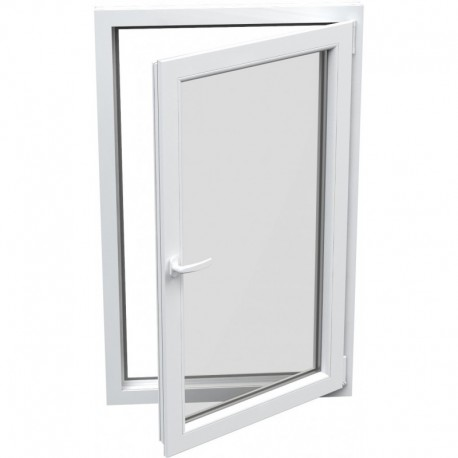Jednokrídlové plastové okno - otváravo-sklopné, PRAVÉ,šírka: 600mm, výška: 800mm