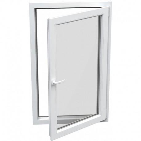 Jednokrídlové plastové okno - otváravo-sklopné, PRAVÉ,šírka: 600mm, výška: 1200mm