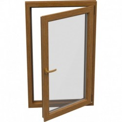 Jednokrídlové plastové okno - otváravo-sklopné, PRAVÉ,šírka: 800mm, výška: 600mm