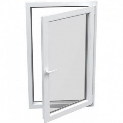 jednokrídlové plastové okno Aluplast Effect: otváravo-sklopné PRAVÉ  šírka: 800 výška: 800