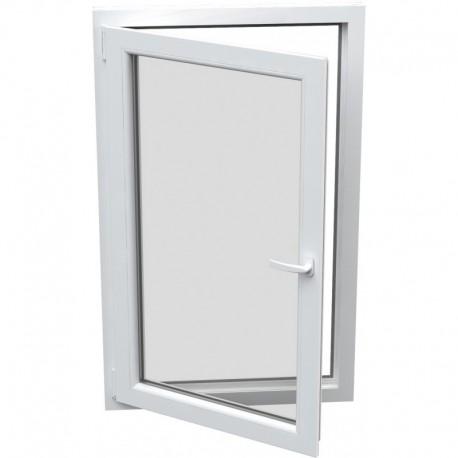 jednokrídlové plastové okno Aluplast Effect: otváravo-sklopné ĽAVÉ šírka: 800 výška: 800