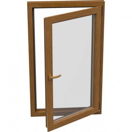 Jednokrídlové plastové okno - otváravo-sklopné, PRAVÉ,šírka: 900mm, výška: 1500mm