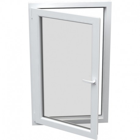 Jednokrídlové plastové okno - otváravo-sklopné, ĽAVÉ,šírka: 1100mm, výška: 1200mm