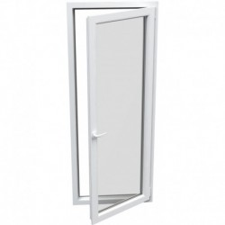jednokrídlové plastové balkónové dvere Aluplast Effect: otváravo-sklopné PRAVÉ  šírka: 700 výška: 2000