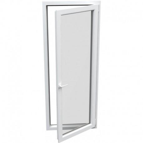 Jednokrídlové plastové balkónové dvere - otváravo-sklopné, PRAVÉ, šírka: 700mm, výška: 2000mm