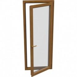 Jednokrídlové plastové balkónové dvere - otváravo-sklopné, PRAVÉ, šírka: 800mm, výška: 2000mm