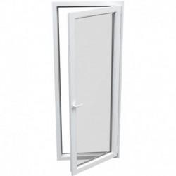 Jednokrídlové plastové balkónové dvere - otváravo-sklopné, PRAVÉ, šírka: 800mm, výška: 2100mm