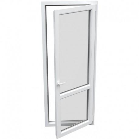 jednokrídlové plastové balkónové dvere Aluplast Effect: otváravo-sklopné PRAVÉ šírka: 800 výška: 2200
