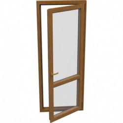 Jednokrídlové plastové balkónové dvere - otváravo-sklopné, PRAVÉ, šírka: 800mm, výška: 2200mm