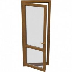 Jednokrídlové plastové balkónové dvere - otváravo-sklopné, ĽAVÉ, šírka: 800mm, výška: 2200mm