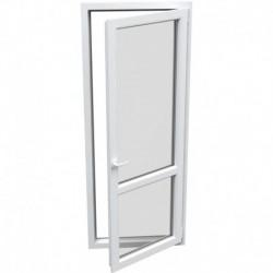 jednokrídlové plastové balkónové dvere Aluplast Effect: otváravo-sklopné PRAVÉ šírka: 800 výška: 2300