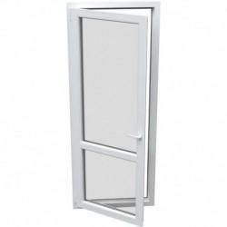 Jednokrídlové plastové balkónové dvere - otváravo-sklopné, ĽAVÉ, šírka: 800mm, výška: 2300mm