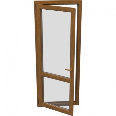 jednokrídlové plastové balkónové dvere Aluplast Effect: otváravo-sklopné ĽAVÉ šírka: 800 výška: 2300