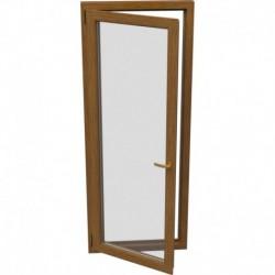 Jednokrídlové plastové balkónové dvere - otváravo-sklopné, ĽAVÉ, šírka: 900mm, výška: 2000mm
