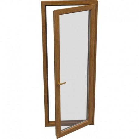 Jednokrídlové plastové balkónové dvere - otváravo-sklopné, PRAVÉ, šírka: 900mm, výška: 2100mm