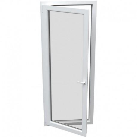 jednokrídlové plastové balkónové dvere Aluplast Effect: otváravo-sklopné ĽAVÉ šírka: 900 výška: 2100