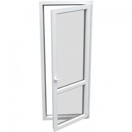 Jednokrídlové plastové balkónové dvere - otváravo-sklopné, PRAVÉ, šírka: 900mm, výška: 2200mm