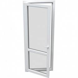 jednokrídlové plastové balkónové dvere Aluplast Effect: otváravo-sklopné ĽAVÉ šírka: 900 výška: 2200