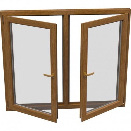Dvojkrídlové plastové okno - otváravé + otváravo-sklopné, šírka: 1700mm, výška: 1200mm