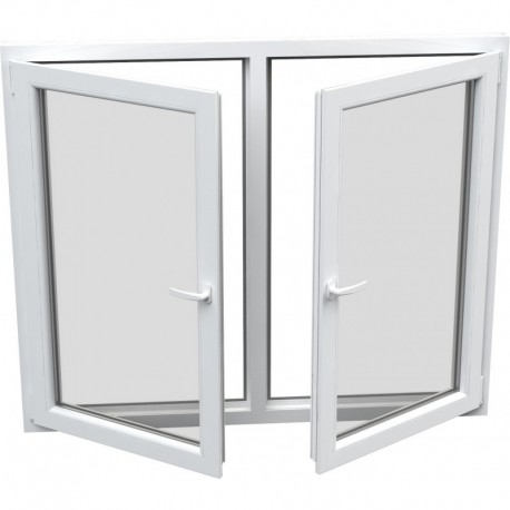 Dvojkrídlové plastové okno - otváravé + otváravo-sklopné, šírka: 1800mm, výška: 1300mm