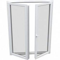 dvojkrídlové plastové balkónové dvere Aluplast Effect: otváravé + otváravo-sklopné, delené 1:1 šírka: 1400 výška: 2000